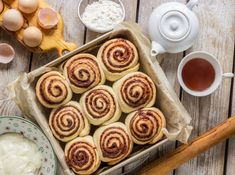 Freshly Baked, Doughnut, Cinnamon, Food And Drink, Cooking Recipes, Pudding, Bread, Baking, Breakfast
