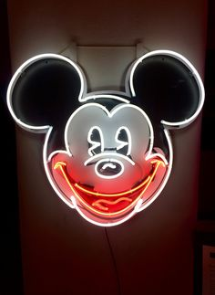 'Lights of Soho' exhibition - Chris Bracey - Mickey Mouse