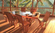 I love the view too...  Bamboo Dining Set at Green Village, Indonesia. greenvillagebali.com