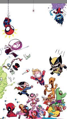 Trendy wallpaper marvel iphone the avengers Baby Avengers, Marvel Avengers, Chibi Marvel, Marvel Art, Marvel Heroes, Marvel Cartoons, Marvel Films, Marvel Characters, Marvel Comics