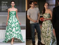 """When Blair goes first appears on a formal event with Louis Oscar de la Renta is the design chosen. Gossip Girl - 5x01 - """"Yes, Then Zero"""""""