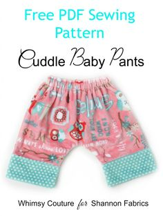 Free PDF Sewing Pattern For Comfy Cuddle Baby Pants