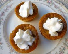 Mini Pumpkin Pie Recipes - 33 calories each!