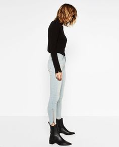 13b27b94 Image 1 of MID RISE TROUSERS from Zara Zara, Normcore, Trousers, Middle,