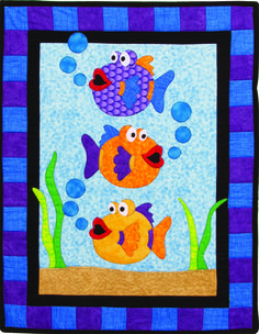 One Fish, Two Fish Quilt Pattern TWW-0167 (advanced beginner, wall hanging)