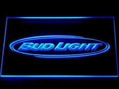 Neon Sign BUD BUDWEISER LIGHT BEER Bar Pub Cafe Restaurant