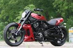 "Racing Cafè: Harley V-Rod ""RedRod"" by Thunderbike Absolutely Goregous Bike"