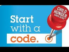 look for codes on participating brands and help a child in need of food in america. please vist website for more information or to enter a code