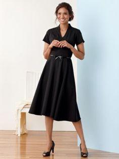 ULTRA 9 STRETCH WOOL AUDREY DRESS