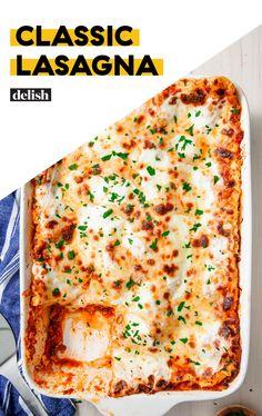 - Classic Lasagna Looking for an easy lasagna recipe This Classic Lasagna from Delish com is the best! - pizzaLooking for an easy lasagna recipe This Classic Lasagna from Delish com is the best! Healthy Recipes, Top Recipes, Pasta Recipes, Beef Recipes, Italian Recipes, Cooking Recipes, Dinner Recipes, Lasagne Recipes, Healthy Food