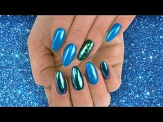 💙Pyłek SEMIFLASH Blue Dragonfly - metaliczna stylizacja Semilac 💙 Acrylic Nails At Home, Nail Art Diy, Gel Nail Polish, Snapchat, Manicure, Beauty, Nail Bar, Nails, Polish