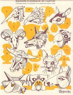 animal masks!