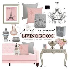 """""""09.08.16 / French Inspired Living Room"""" by palmtreesandpompoms ❤ liked on Polyvore featuring interior, interiors, interior design, home, home decor, interior decorating, Cultural Intrigue, Vintage Print Gallery, CB2 and Rizzy Home"""