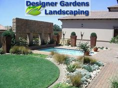 """See 1 tip from visitors to Designer Gardens Landscaping. """"Use Designer Gardens Landscaping to landscape your garden, build you a koi pond, swimming. Beautiful Gardens, Garden Landscaping, Pond, Swimming Pools, Garden Design, Pergola, Sidewalk, Outdoor Structures"""