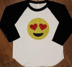 Emoji Shirt, Love Emoji Shirt, Emoji Tee, Emotions tees, Trendy shirt, Trendy clothing, Kids shirt, Kids t-shirt, Kids emoji shirt by purpleaspenkids on Etsy