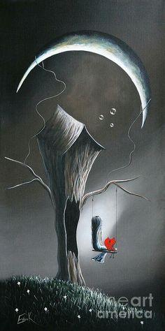 Kai Fine Art is an art website, shows painting and illustration works all over the world. Art Amour, Art Fantaisiste, Art Et Illustration, Moon Art, Pics Art, Whimsical Art, Oeuvre D'art, Amazing Art, Fantasy Art