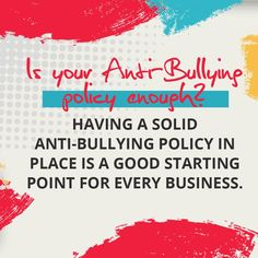 How efficiently is your anti-bullying policy being enforced and how much anti-bullying training did your managers and employees receive? Read our blog for more information! #thebullyologist #jessicahickman #endbullyingnow #stopbullying #becomeupstanders #notobullying Anti Bullying Policy, Stop Bullying, Healthy Relationships, Workplace, Blog, Blogging