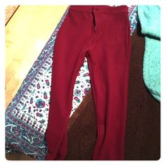 High Waisted Fuschia Pants These pants are super cozy and perfect for a night out. Never worn before! Forever 21 Pants Skinny