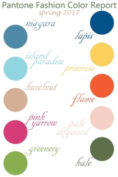 Pantone Fashion Color Report .:. Spring 2017