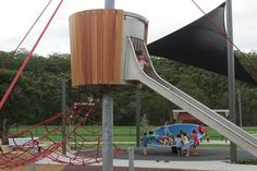 Recently upgraded to enable people of all ages and abilities to play together, this 'exploration' playground includes sand and water play Park Playground, Playground Design, Sand And Water, Water Play, Camp Hill, Sand Pit, Winter Sun, Brisbane, Great Places
