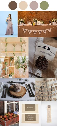 Rustic Romance Wedding Colour Palette #weddingplanning #engaged