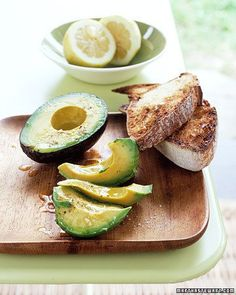 Avocado with Lemon and Olive Oil Recipe
