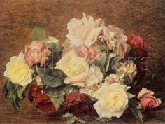 Roses Art by Henri Fantin-Latour - by AllPosters.ie