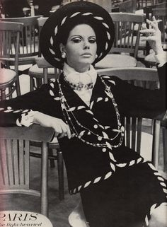 Chanel. Vogue, March 15th 1967.   Photographed by Helmut Newton