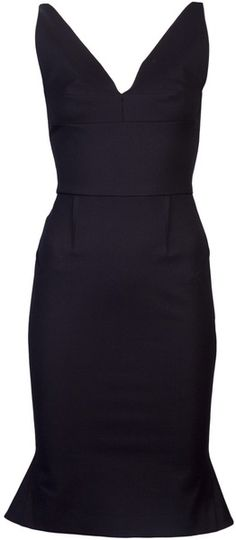 ROLAND MOURET  Black Jaspet Dress
