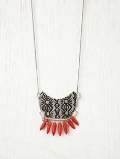 Free People Disc and Bead Necklace, $38.00