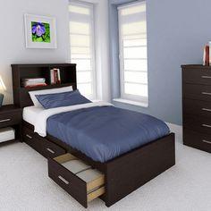 dCOR design Willow Bookcase Storage Platform Bed   Wayfair Supply