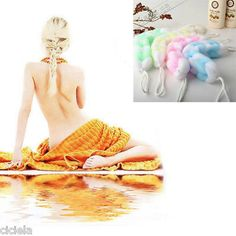 nice Back Scrubber Bath Shower Mesh Sponge Exfoliating Body Brush Wash Nylon Puff Spa - For Sale