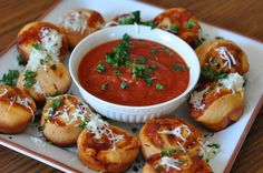 Super Bowl Pizza Bun Sliders