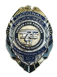 This limited edition officer's badge features an officer kneeling near a casket and is a great tribute gift for Police Week 2017. Shop now, show respect.