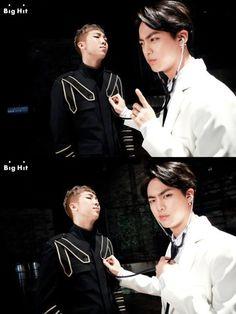 bts, jin, and rap monster image Seokjin, Kim Namjoon, Jimin Jungkook, Bts Bangtan Boy, Bts Boys, Jung Hoseok, Foto Bts, Bts Photo, Bts Namjin