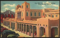 1940's Postcard of Post Office and Government Building, Santa Fe