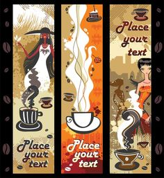 Women And Coffee Theme, vector graphic - 365PSD.com