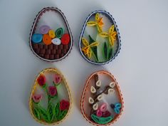 2013 Easter 2D eggs/My own original designs - Facebook.com/Zdenka Quilling