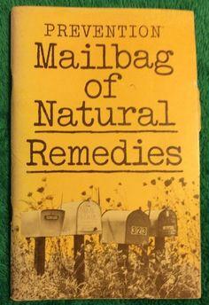 Vintage 1982 Prevention Mailbag of Natural Remedies Paperback Book | eBay