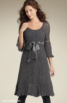 crochet dresses...love the dark grey