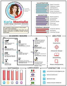 CV/Resume by Karla Montaño. Find more inspiration for creative resumes and personal branding at www.pinterest.com/olympiaresume/creative-resumes-personal-branding/