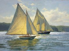 The Paintings of Donald Demers/Bay Light 18x24 - oil/