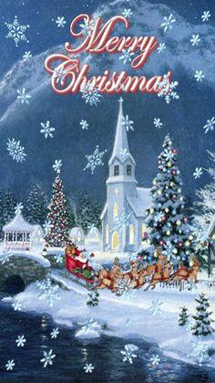 Merry Christmas Gif, Merry Christmas Wallpaper, Christmas Clipart, Christmas Art, Christmas Wishes, Christmas Holidays, Christmas Decorations, Beautiful Christmas Scenes, Vintage Christmas Images