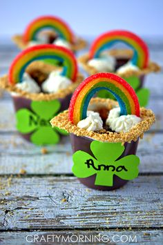 rainbow pudding treats