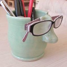Pencil Holder Eyeglass Holder Ceramic Pottery от SharsArtPottery