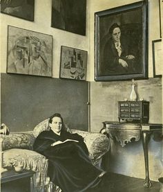 Gertrude Stein in her Paris studio, 1930.