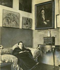 Gertrude Stein in her Paris studio, 1930.