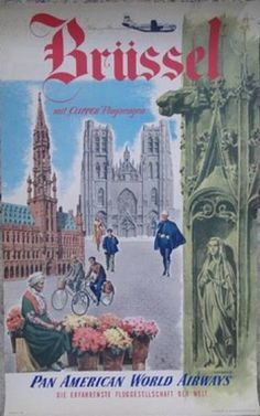"""GLASGOW 11/"""" x 17/"""" Collector/'s Travel Poster Print Pan American Air Lines"""