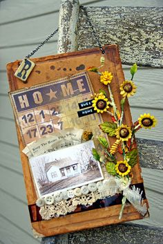 Altered book cover
