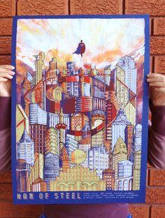 Man of Steel screenprint /// by Karl Tagle